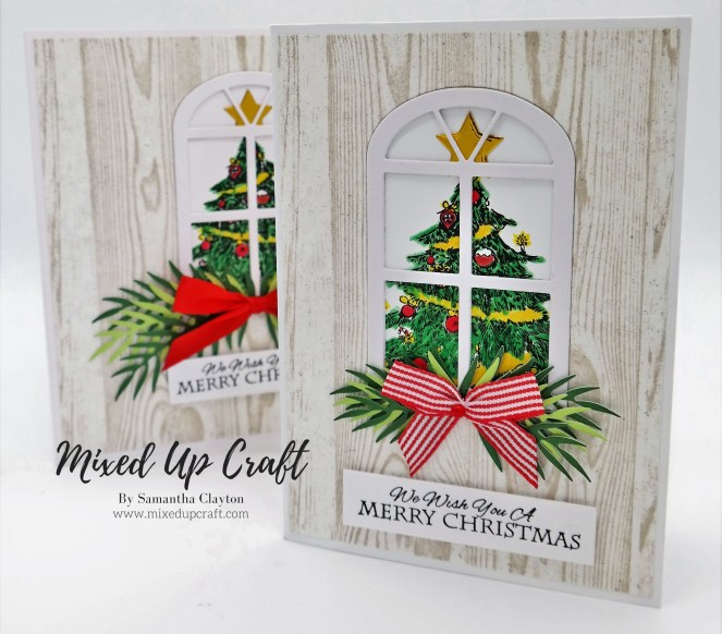 Christmas Tree Window Card