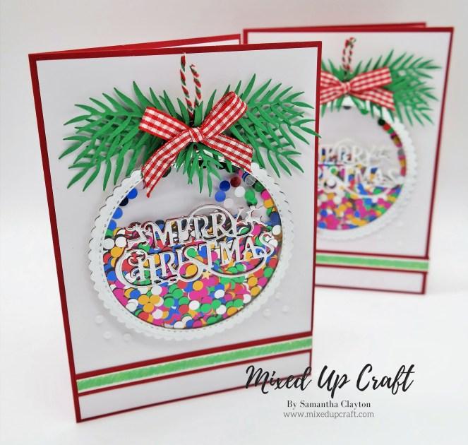 Christmas Bauble Shaker Card