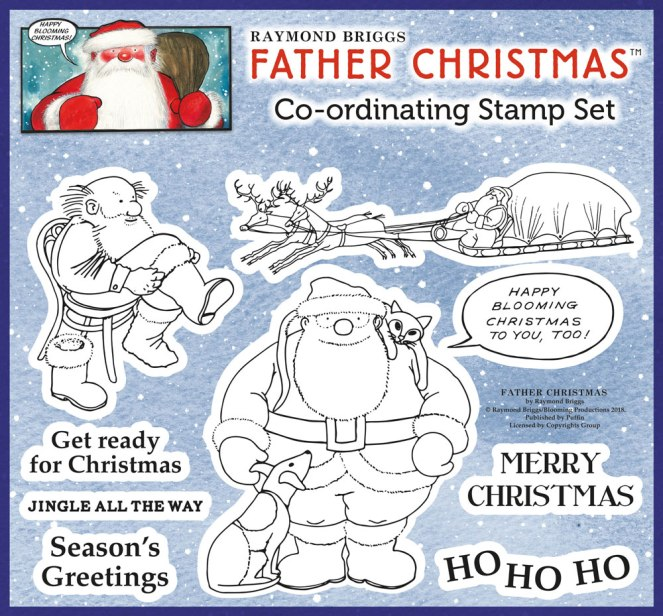 Raymond Briggs Father Christmas Stamp Set