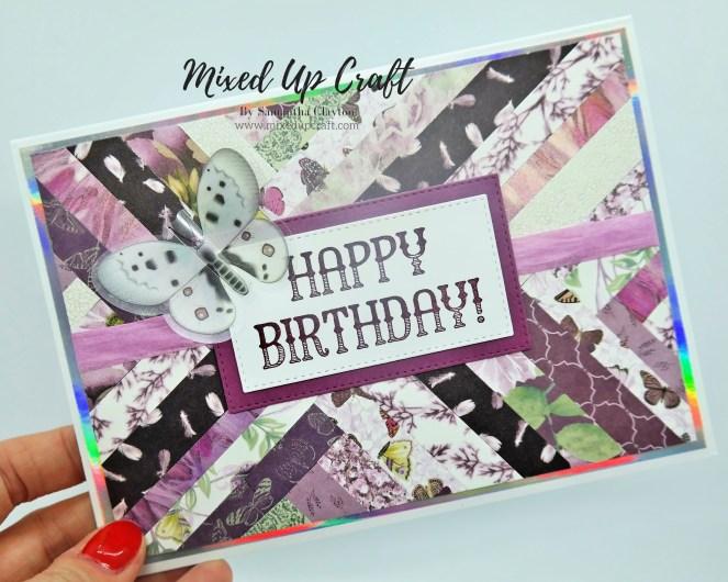 Herringbone Technique Birthday Cards
