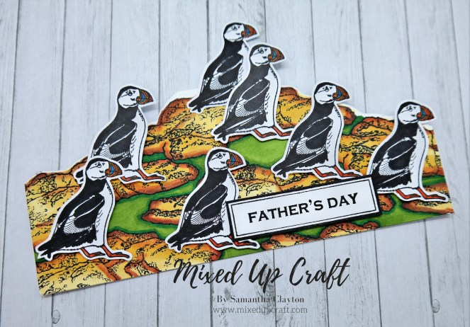 Puffin Card - Any Shaped Cards Using Stamps