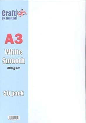 Craft UK A3 Smooth White Cardstock