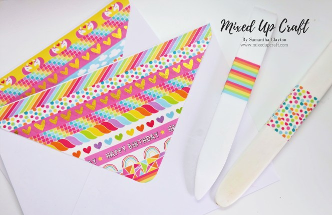 Decorated Envelopes Using Washi Tape
