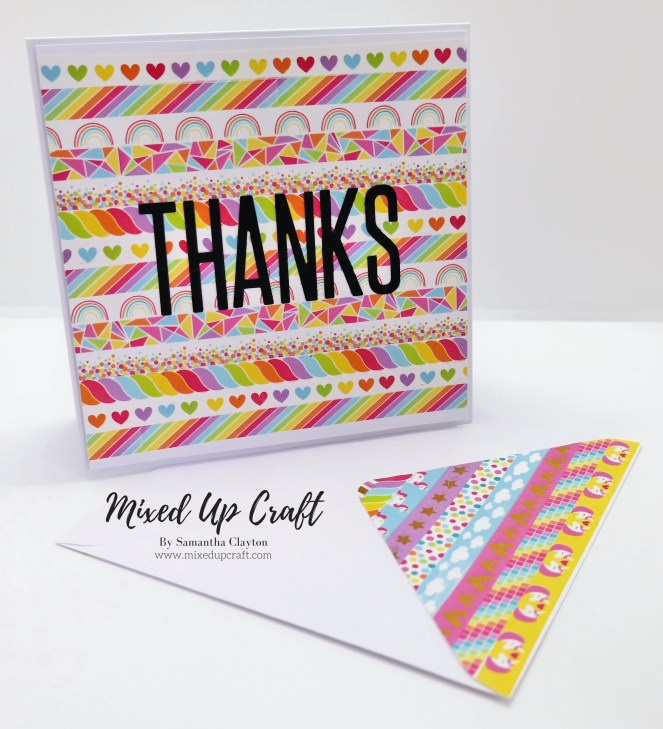 Washi Tape Background Thank You Card