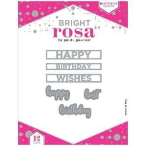 Bright Rosa Birthday Words Dies