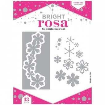 Bright Rosa Flower Border Die Set