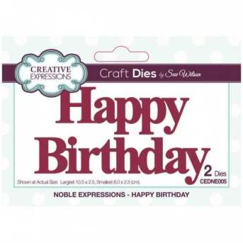 Creative Expressions Happy Birthday Die