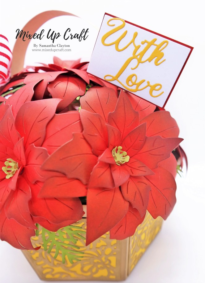 Beautiful Poinsettia Flower Basket
