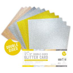 Dovecraft Double-Sided Glitter Card