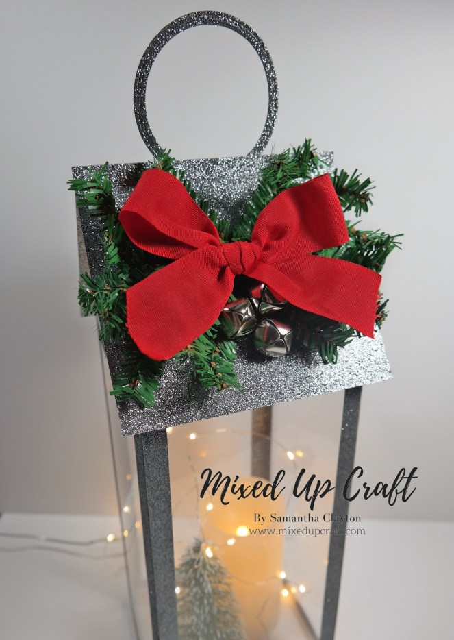 Beautiful Tall Lantern using DOUBLE-SIDED GLITTER CARD!!!