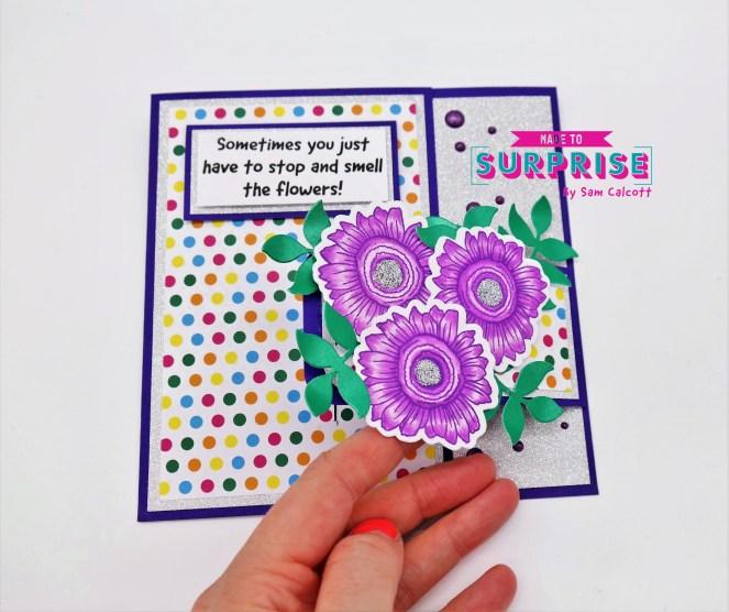 Pretty Buckle Fold Cards