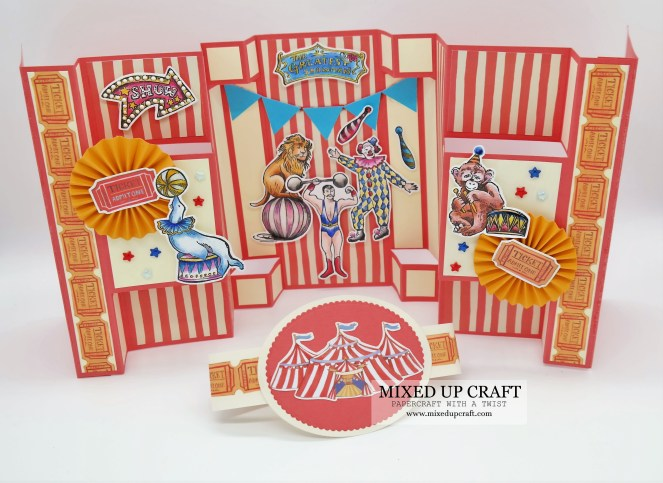 Large Multi-Fold Cards Circus Themed