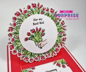 Pretty Floral Slider Card