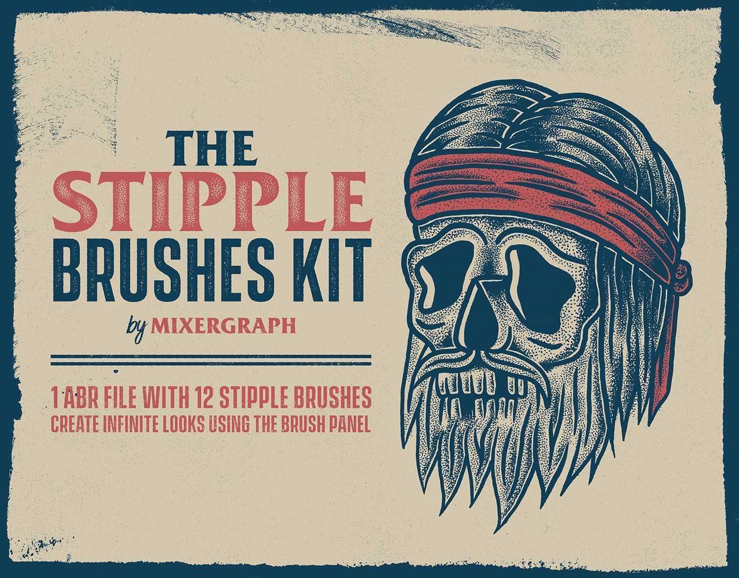 Mixergraph The Stipple Brushes kit