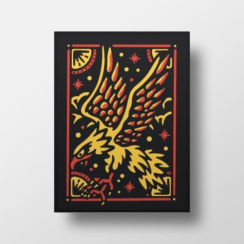 Space Eagle Print Mixergraph