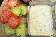 Making Panko-Fried Heirloom Tomatoes