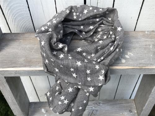 Sjaal Grey Stars