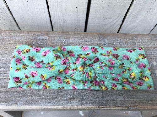 Haarbandje Mint little Flowers