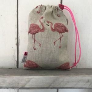 Knikkerzakje Flamingo