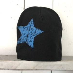 Zwart mutsje 'Star'