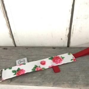 Speenkoord met roze bloemen voor meisjes