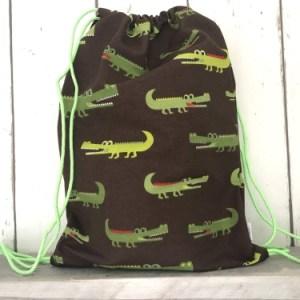 zwemtasje / rugtasje met krokodillen