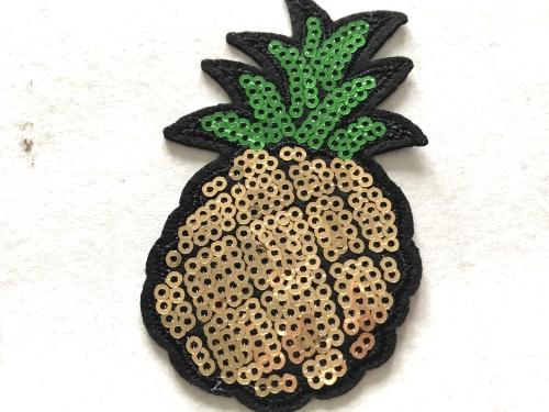 Strijkapplicaties Ananas voor meisjes