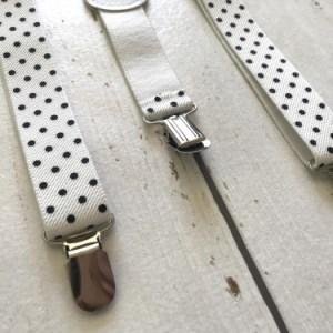 Witte bretels met stippen