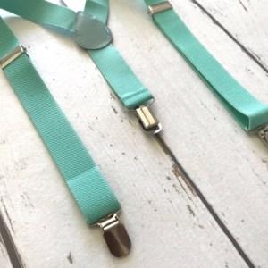 Mintgroene bretels voor kinderen