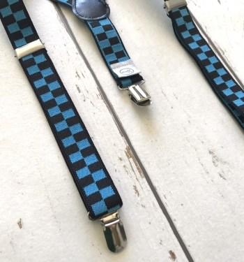 Bretels Black/Blue Blocks