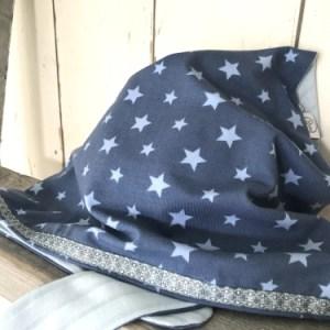 Blauwe bandana met sterren voor jongens
