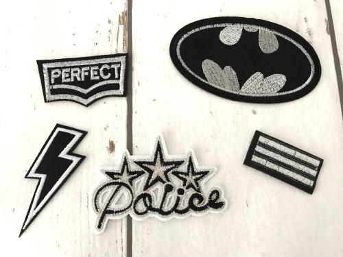 Strijkapplicaties voor jongens - batman - politie