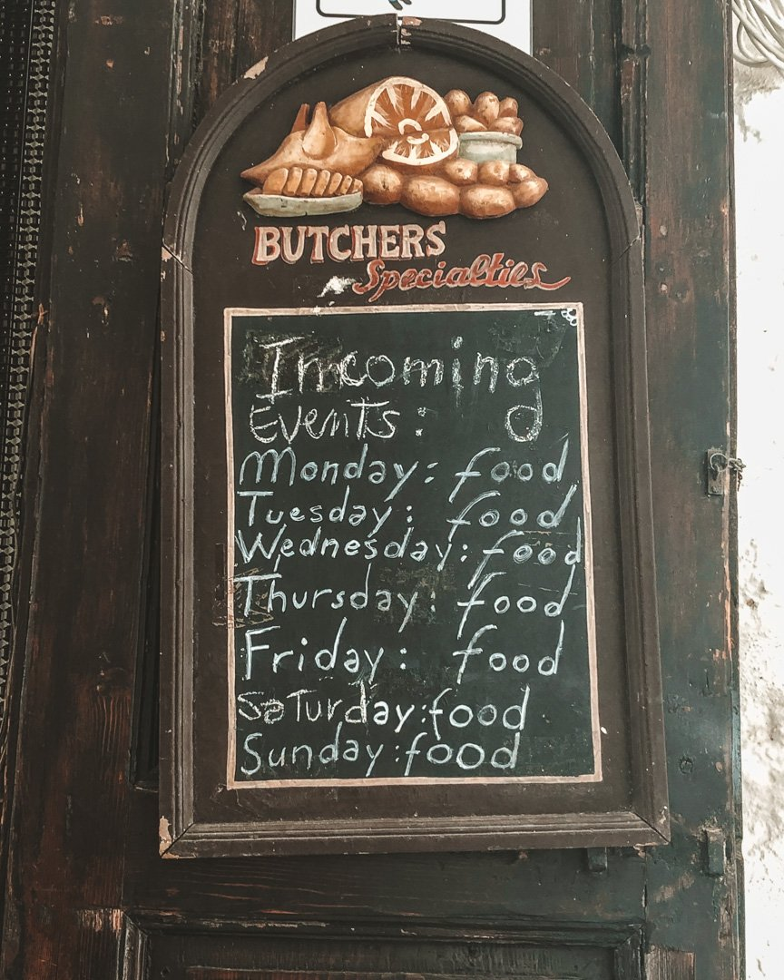 Food sign, Food in Italy, Food in Puglia