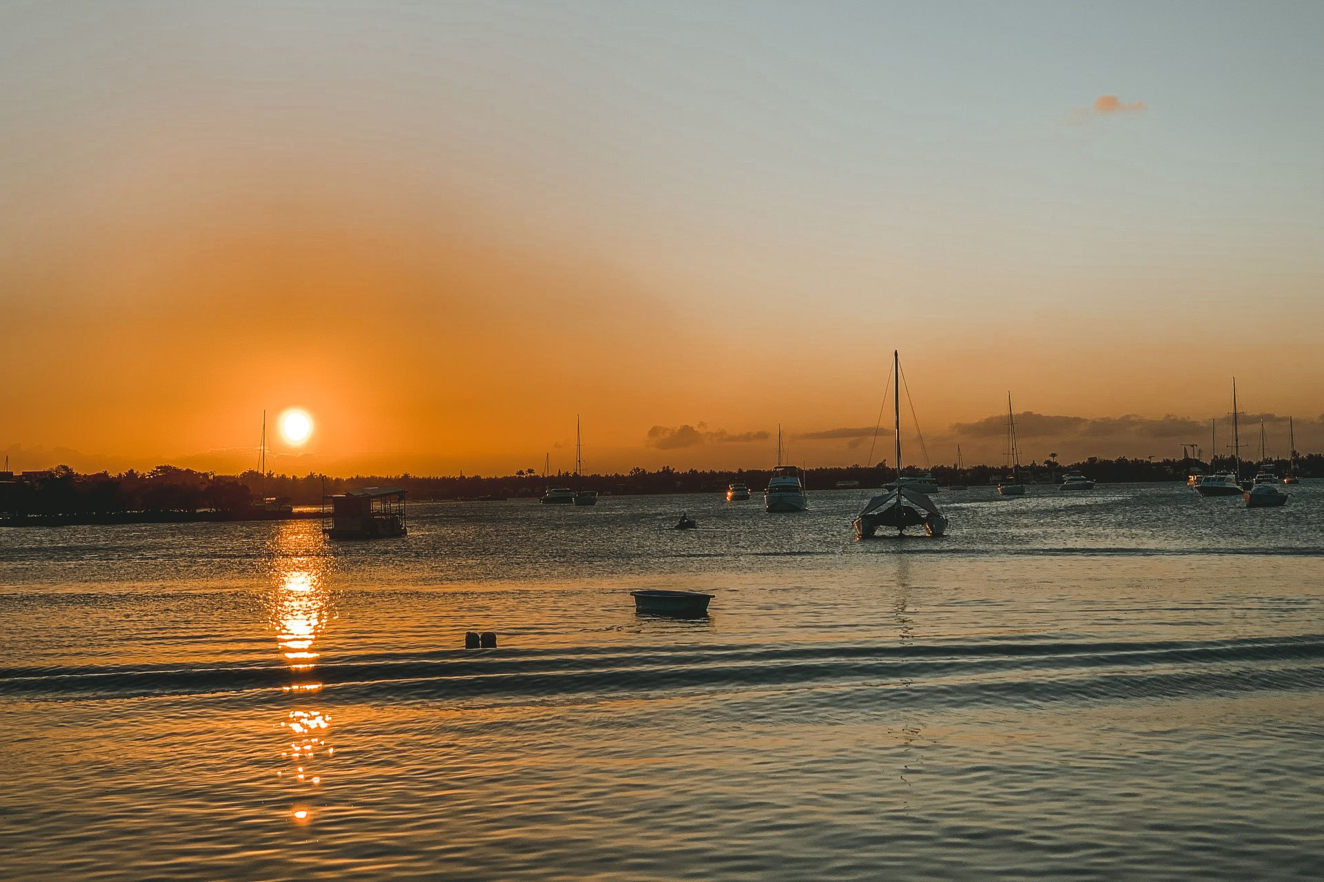 Grand Baie, Grand baie Mauritius, Mauritius island, Mauritius sunset