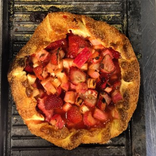 Summer Strawberries Rhubarb Gallette.