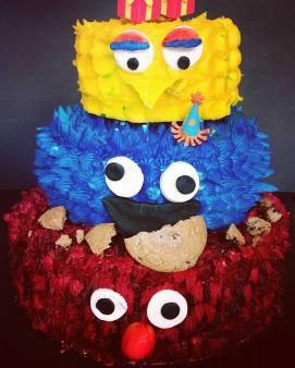 Sesame Street Tiered Cake