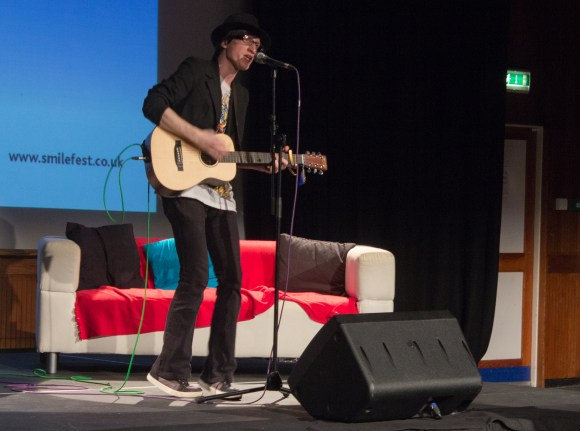 Live acoustic performance at Solent Smile Festival conference from Kai Knightley.