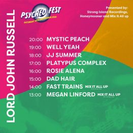 Lord John Russell Psyched Fest Portsmouth Stage Times