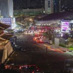 Seoul City Night Lights And Traffic On The Street Free Stock Video