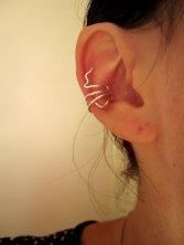 ear cuff- bague d'oreille en argent
