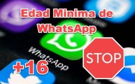 whatsapp edad minima