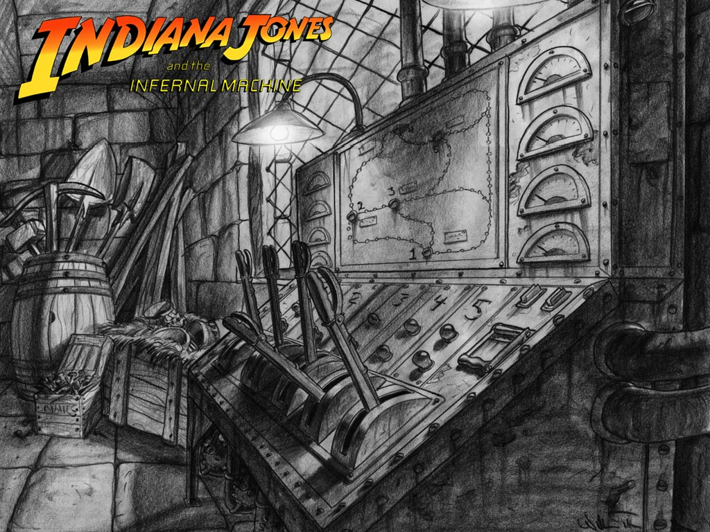 Indiana Jones And The Infernal Machine Concept Art The International House Of Mojo