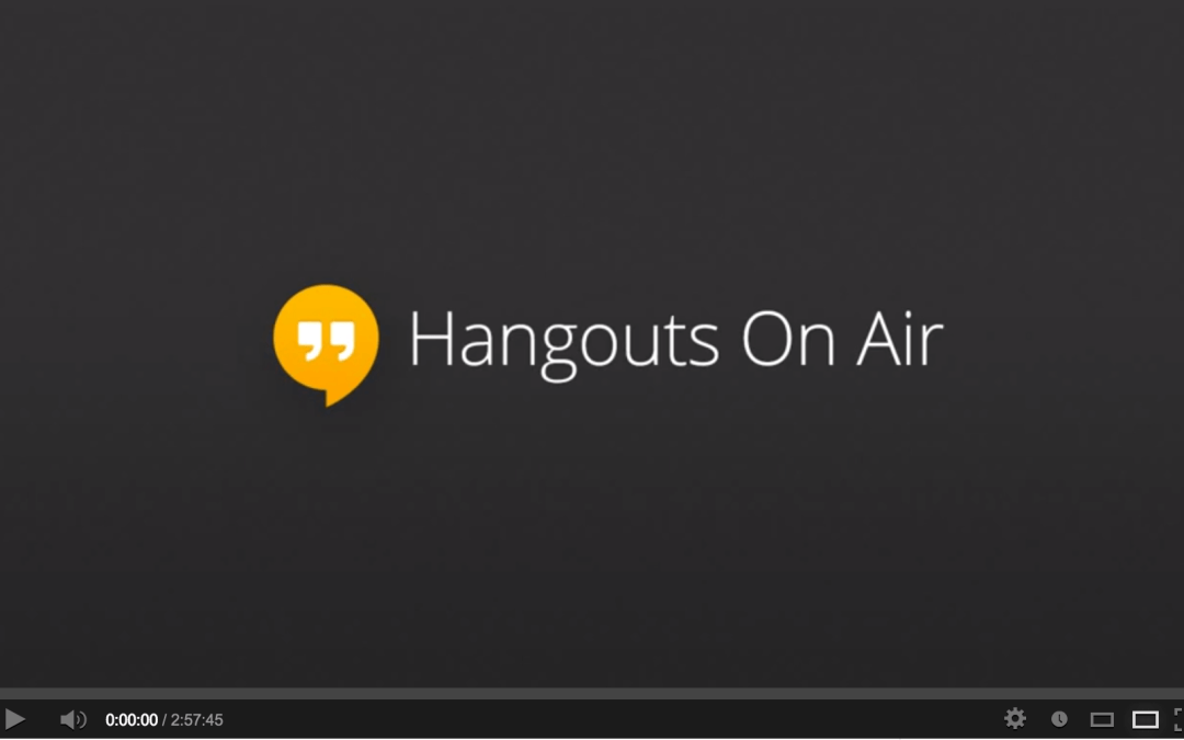 How to host a Google Hangouts Webinar