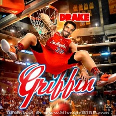 drake dunking basketball clippers