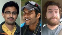From left: Srinivas Kuchibhotla, who died; Alok Madasani, who was injured; and Ian Grillot, also injured