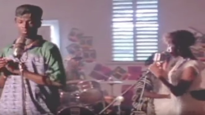 In this screen grab, Terror Fabulous is seen with Nadine Sutherland in the video for the mega-hit 'Action'.