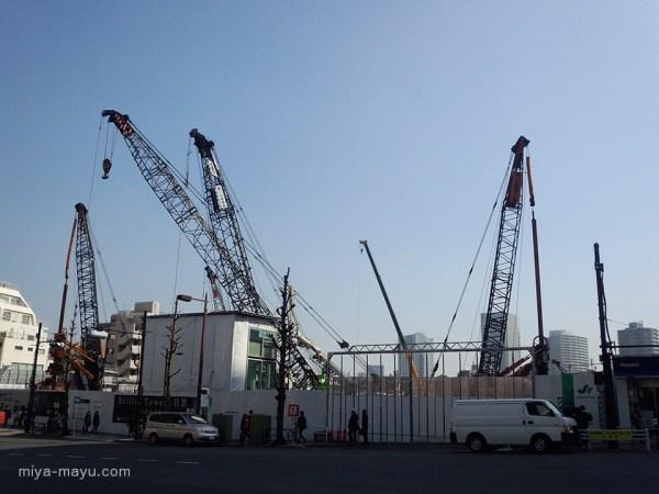 クレーンの群れにブラキオサウルスを重ねる 2015.03.17 東京都