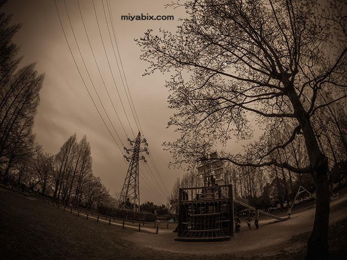 公園,鉄塔
