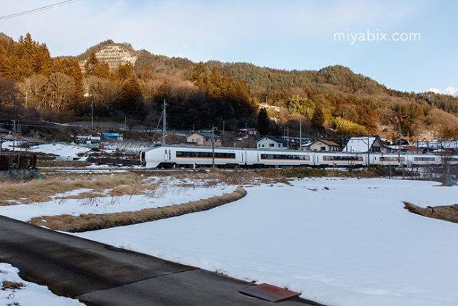 雪景色,電車