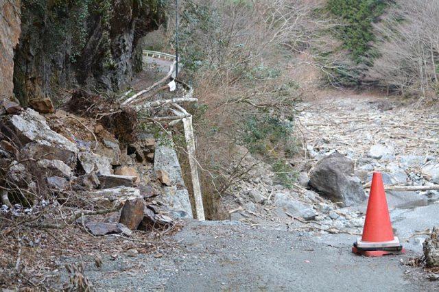 大和谷線崩落の様子